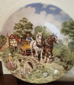 Vintage Royal Schwabap 10 inch plate hand decorated in Holland 1984