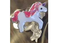 New - sterling silver unicorn earrings. Boxed.