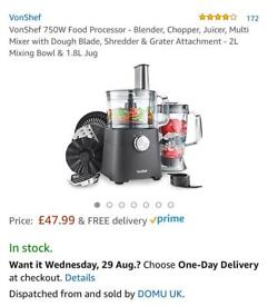 BRAND NEW 2-in-1 VonChef Food Processor & Blender