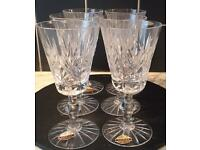 Hand Cut FOREIGN Lead Crystal X 6 Sherry Glasses