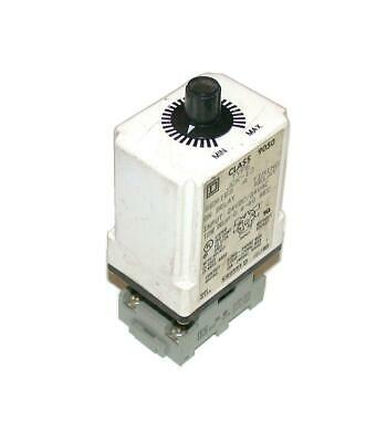 Square D  9050jck-13 Time Delay Relay Wsocket 24 Vacdc 0.6-60 Seconds