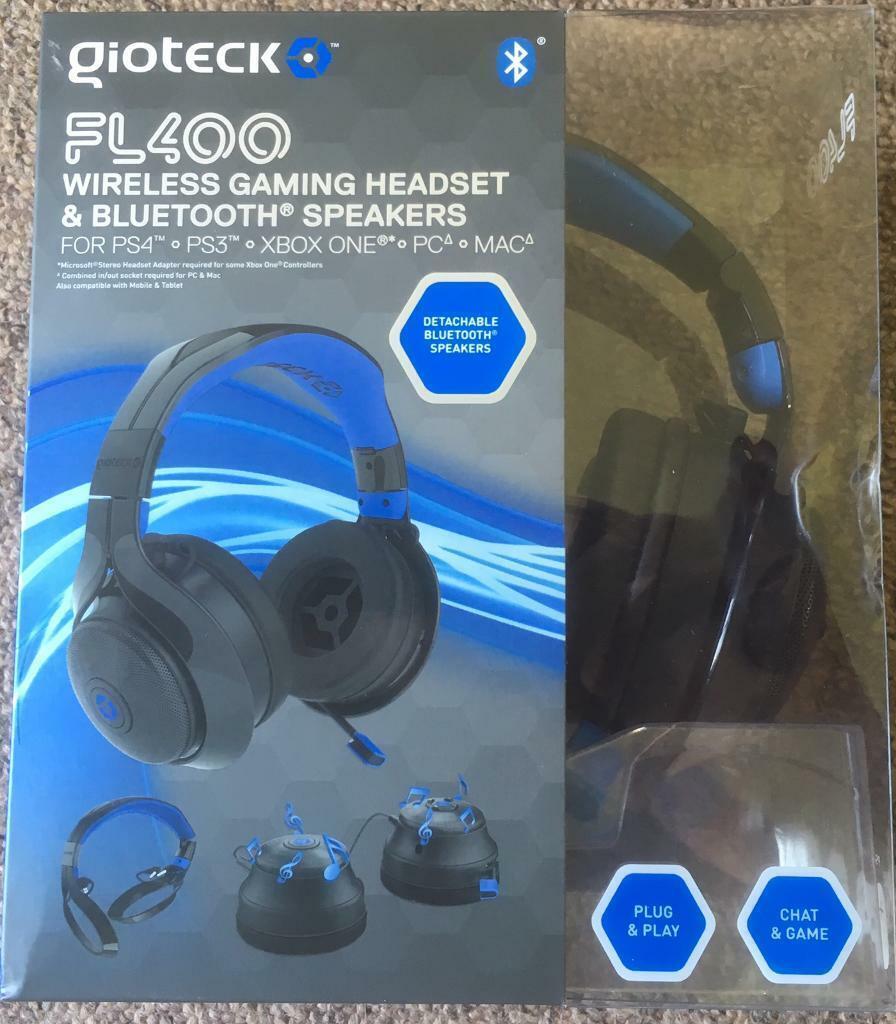 GIOTECK FL400 Wireless Gaming Headset & Bluetooth Speakers | in Blandford  Forum, Dorset | Gumtree