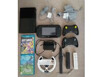 Wii U 32 GB with Zelda:BOTW+3 More Games+4 Extra Controllers