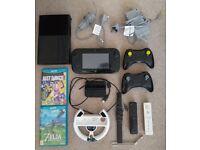 Wii U Premium 32 GB, 5 controllers, 4 games (inc. Zelda)