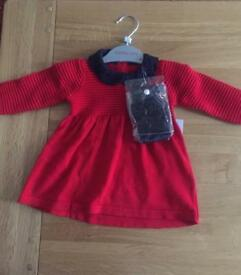 0-3 months Dress with tights