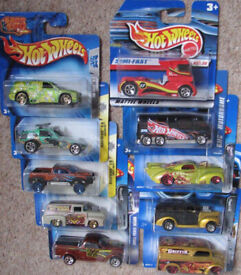 Hot Wheels Cars selection of x10 old collectable cars - Set 43. See photos. All sealed and unused.