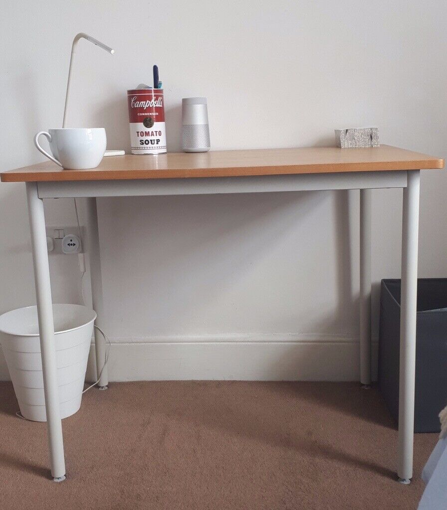 Swell Muji Small Desk 90X60X75 Light Wood And White Metal Must Go Quick In Islington London Gumtree Download Free Architecture Designs Embacsunscenecom
