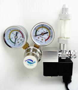 Magnetventil Co2 Druckminderer Elektro Sicherheitsventil Manometer Aquarium