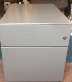 office filing cabinet pedestal in metal grey