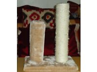 KITTEN AND CAT SCRATCHING POST