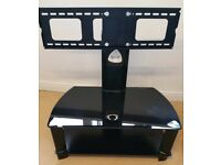 Tv stand/mount black glossy