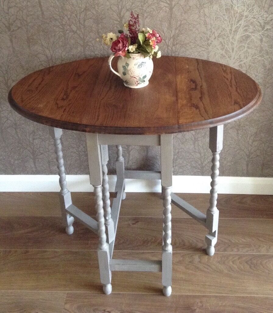 Vintage Oak Dining Table Charming Small Vintage Oak Dining Table Dropleaf Hand Painted