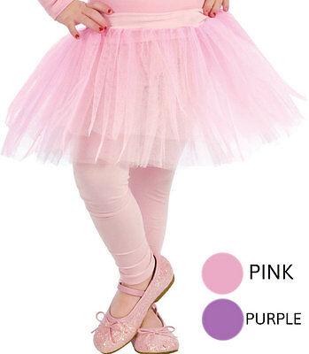 Girls Purple Ballerina Tutu Skirt Petticoat Princess Ballet Halloween Child Kids