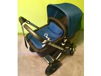 Beautiful Bugaboo Cameleon 2 In Royal Blue Cam 3 Fabrics with accessories! VGC