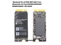 APPLE MACBOOK PRO RETINA A1502 WIRELESS WIFI CARD BCM94360CS 653-0029
