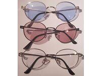 Round metal unisex clear lens glasses/sunglasses