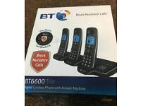 BT CORDLESS TRIO PHONE BRAND NEW SEALED WAS £149.00 TODAY OFFER £63