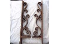 hand forged wrought iron scroll brackets