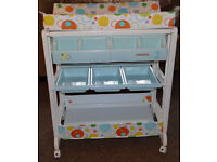 Cosatto Easi Peasi Baby Changing Table / Station & Bath Kaleidoscope Ex Con