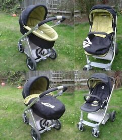 Oyster travel system carrycot and pushchair