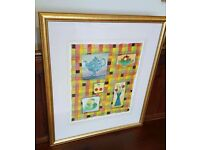 original watercolour painting by alan ball, signed in beautiful gold frame