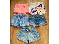 Girls 8-9 next, H&M shorts