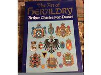 the art of heraldry by arthur fox-davies hardback 1986