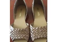 Brand New Womens Asos Juna Tan Open Toe Leather Sandals Size 3