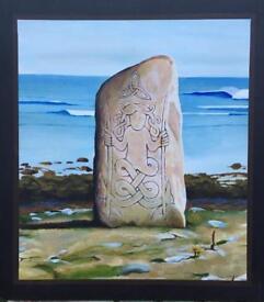 Standing stone painting