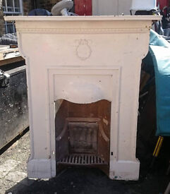 OLD CAST IRON FIRE IN GOOD CONDITION
