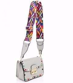 Women's Studded Crossover Messenger Bag