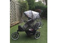 Phil and ted navigator v2, v3 double buggy with auto brake 2017 model . Pram . Pushchair
