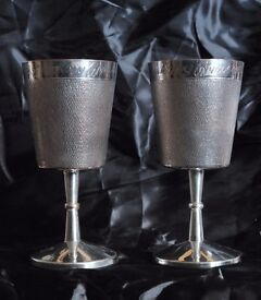 For Sale Two Silver plated Goblets