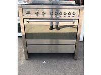 SMEG dual fuel range cooker 90cm