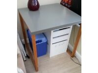 Habitat Grey metal top dining table