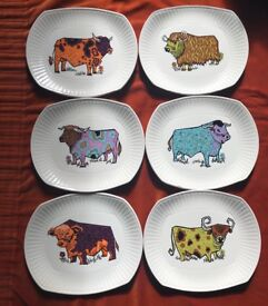 Vintage beefeater statehouse plates