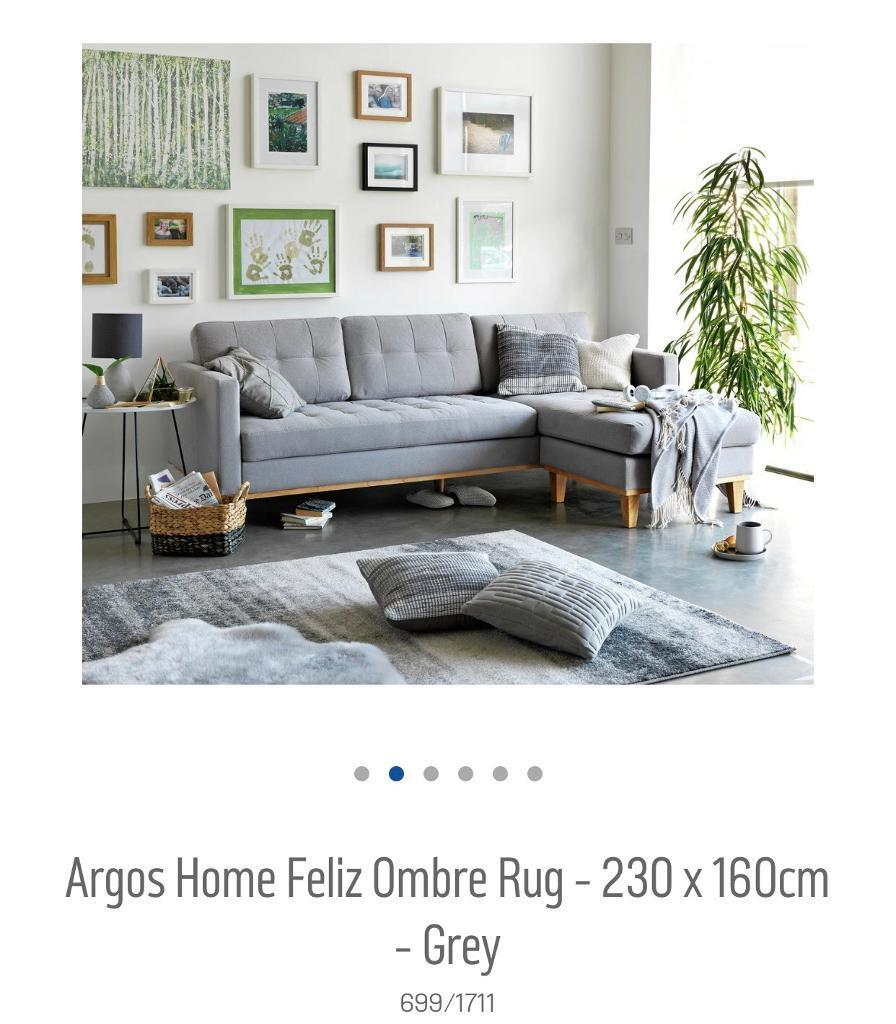 Grey Argos Ombré Rug