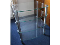 Glass four-tier Hi-Fi stand in excellent condition (can delivery foc in Worthing area)