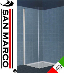 porta doccia parete fissa anta fissa stondata vetro 6mm arredo ... - San Marco Arredo Bagno