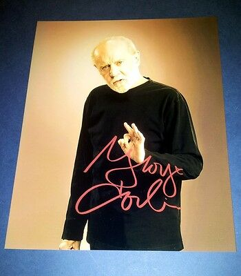 "GEORGE CARLIN PP SIGNED 10""X8"" PHOTO REPRO COMEDY"