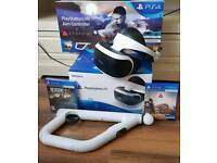 PSVR Boxed 1 Week old, with camera, Resi 7 and farpoint with gun