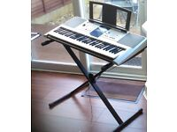 Yamaha PSR-E323 Portable Electronic Keyboard with stand & manual - Clean/ Very Good Condition