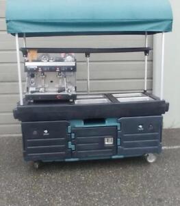 CamKiosk Portable Serving Cart w/Canopy