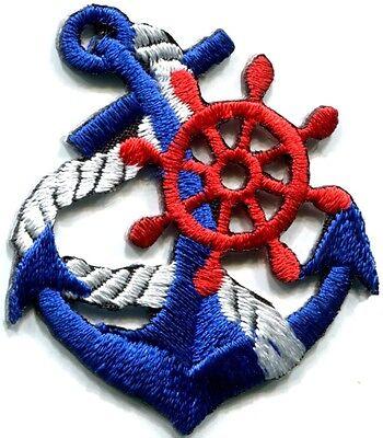 Anchor tattoo navy biker retro ship boat sea sew applique iron-on patch S-398 - Sea Tattoo