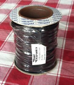 100M black equipment wire 16/0.2mm ( 4 A ) - bargain