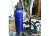 Band new Blue Thermostat Water Bottle with Holder