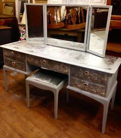 Stag Minstrel dressing table, with 3 mirrors & Stool(3 options)