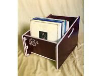 """Groove Box Standard vinyl record storage box 12"""" with backboard (not included)"""