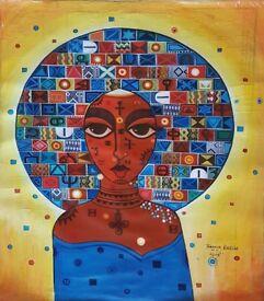 Beautiful original African Art by Ethiopian Artist