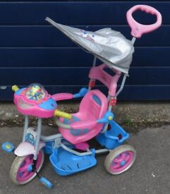 Pink Bike Trike With Canopy Safety Guard